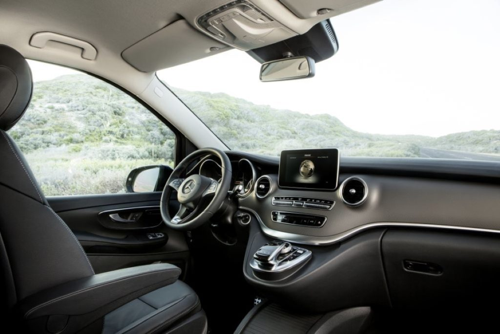 Die neue Mercedes-Benz V-Klasse – Interieur, Leder Lugano schwarz The new Mercedes-Benz V-Class – Interior, black Lugano leather