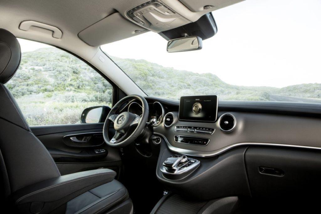 Die neue Mercedes-Benz V-Klasse – Interieur, Leder Lugano schwarz The new Mercedes-Benz V-Class – Interior, black Lugano leather